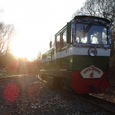 Bayhurst awaits its next Santa train in the winter sun at Ruislip Lido Station