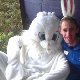 Easter Eggspress 2012 - Our Station Manager with the Easter Bunnies!