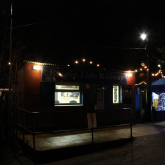 Mince Pie Specials 2011 - Woody Bay Station at night