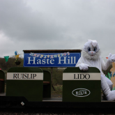 Easter Eggspress 2012 - The Easter Bunny sitting in a coach