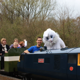 Easter Eggspress 2012 - Easter Bunny and train driver
