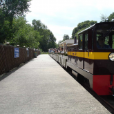 John Rennie with a train at Ruislip Lido Station