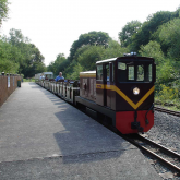 Lady of the Lakes with a train at Ruislip Lido Station